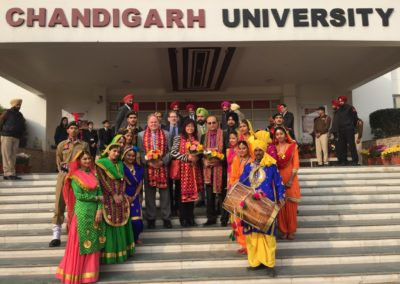 Warm Welcome at Chandigarh University